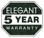 Elegant 5 Years Warranty